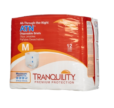 Tranquility® ATN Unisex Adult Incontinence Brief Tranquility® ATN Tab Closure Medium Disposable Heavy Absorbency - BG/12 (21583101)
