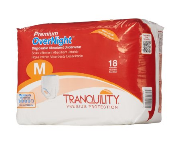 Tranquility® Premium OverNight™ Unisex Adult Absorbent Underwear Tranquility® Premium OverNight™ Pull On with Tear Away Seams Medium Disposable Heavy Absorbency - CS/72 (21153104)