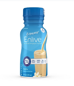 Ensure® Enlive® Oral Supplement Ensure® Enlive® Vanilla Flavor Ready to Use 8 oz. Container Bottle - CS/24 (64862610)