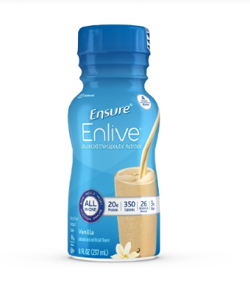 Ensure® Enlive® Oral Supplement Ensure® Enlive® Vanilla Flavor Ready to Use 8 oz. Container Bottle - EA (64862601)