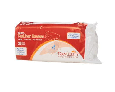 TopLiner™ Super Incontinence Booster Pad TopLiner™ Super 4-1/4 X 15 Inch Heavy Absorbency Polymer Core One Size Fits Most Adult Unisex Disposable - BG/25 (20603101)