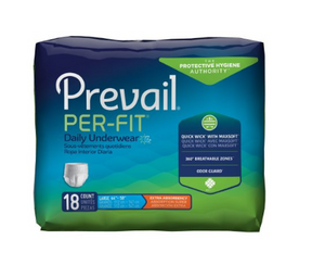 Prevail® Per-Fit® Unisex Adult Absorbent Underwear Prevail® Per-Fit® Pull On with Tear Away Seams Large Disposable Heavy Absorbency - PK/18 (13503101)