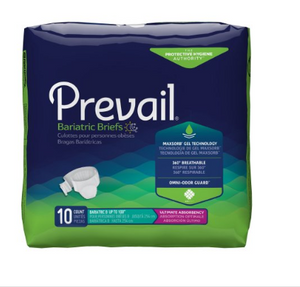 Prevail® Bariatric Unisex Adult Incontinence Brief Prevail® Bariatric Tab Closure Size B Disposable Heavy Absorbency - PK/10 (94443101)