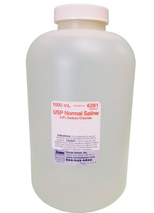 USP Normal Sterile Saline Screw Top Container 1000mL EA - WE6281