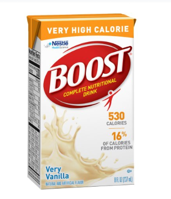 Boost® VHC Oral Supplement Boost® VHC Very Vanilla Flavor Ready to Use 8 oz. Container Carton - CS/27 (82162600)