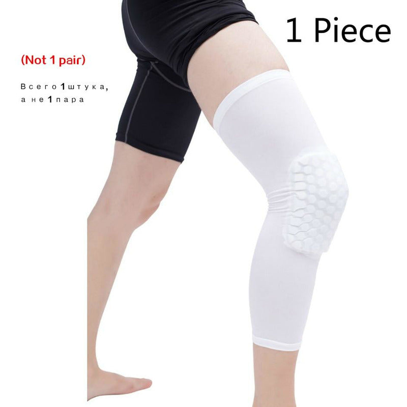 Padded Compression Knee Sleeves - Basketball & Wrestling HexPads!