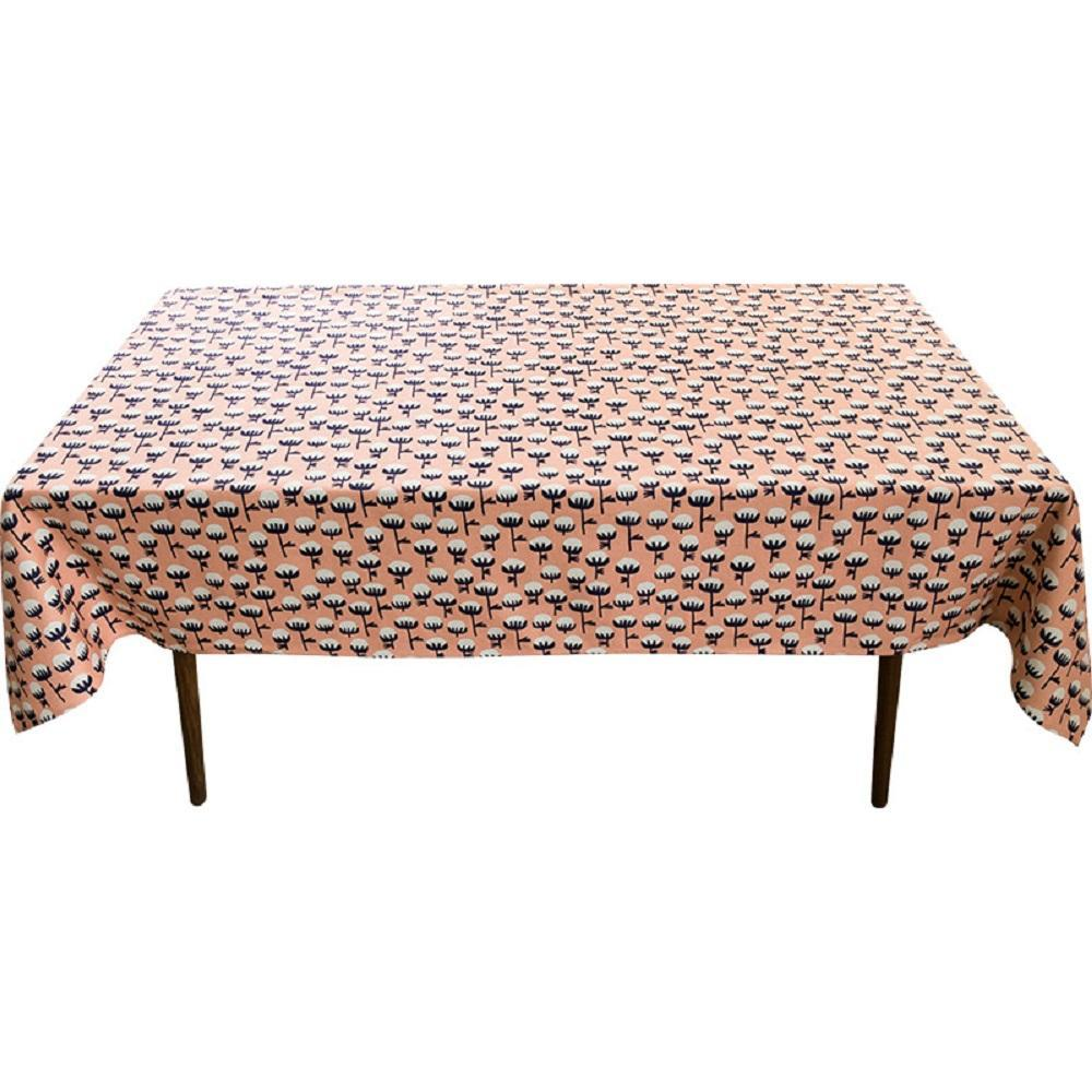 Pink Cotton Indoor / Outdoor Tablecloth