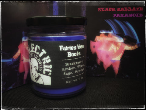 """Fairies Wear Boots"" candle"