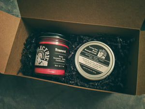Regular candle + massage candle gift set