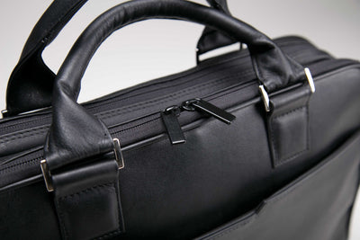 Leather Briefcase Double Pocket
