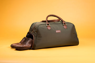 Fabric Duffel Bag / With shoe compartment