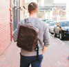 INMO's Classic Leather Backpack Briefcase
