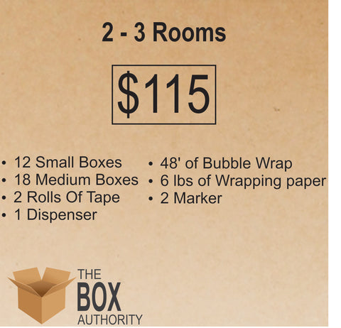 2 Rooms - 3 Rooms Moving Kit