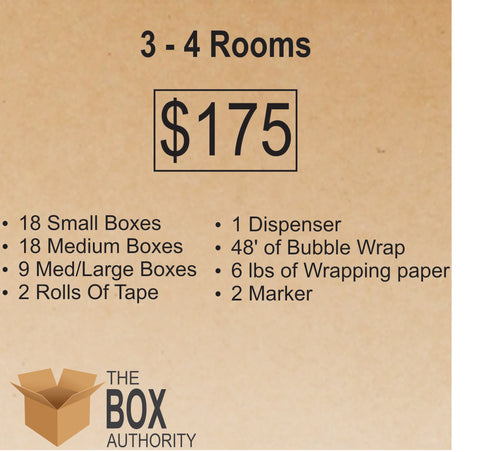 3 Rooms - 4 Rooms Moving Kit