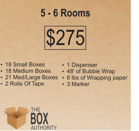 5 Rooms - 6 Rooms Moving Kit