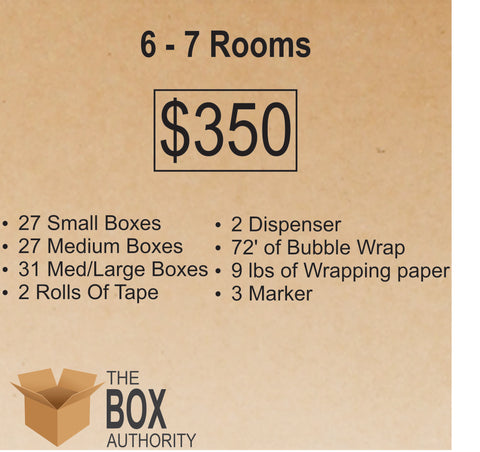 6 Rooms - 7 Rooms Moving Kit