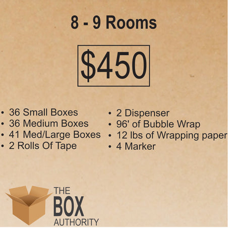 8 Rooms - 9 Rooms Moving Kit