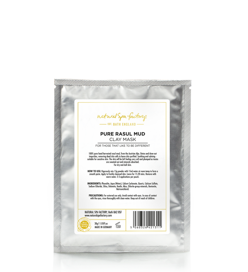 PURE RASUL MUD CLAY FACE MASK - FOR DETOXING & CALMING (30G) - VEGAN FRIENDLY