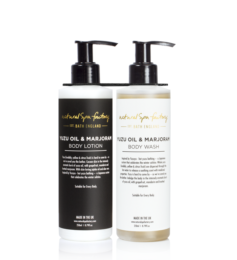 DOUBLE UP YUZU OIL & MARJORAM BODY WASH & BODY LOTION (250ML)