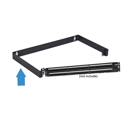 Kenuco 19 Inch Hinged Wall Mount Bracket Network Equipment Rack Electrostatic Powder Coated 16 Gauge Steel Hinged Wall Mount Bracket