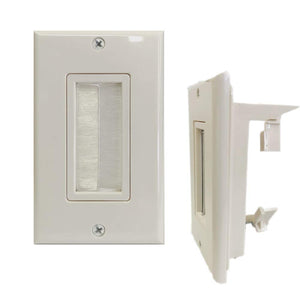 Kenuco 1/2/4 Port Keystone Wall Plate with Low Voltage Mounting Bracket Built-in