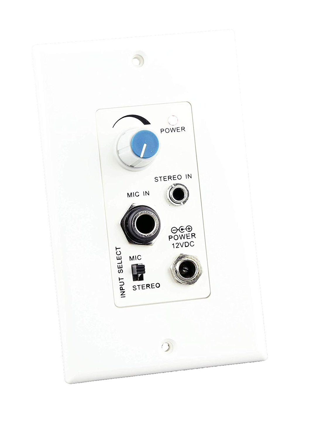 KENUCO Microphone and Stereo AudioPower Amplifier- Wall Plate Microphone and Stereo Audio Power
