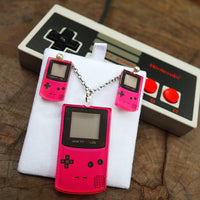 Retro Game Toy Colour (Pink) - Pendant/Earrings