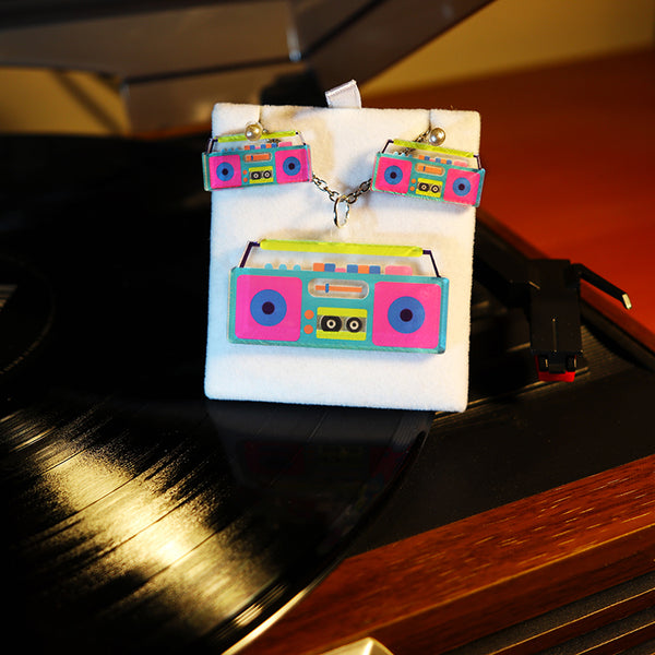 Retro Boombox - Pendant/Earrings
