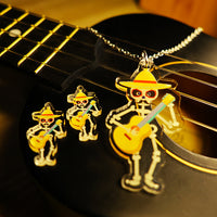Hugo the Mariachi Skeleton - Pendant/Earrings