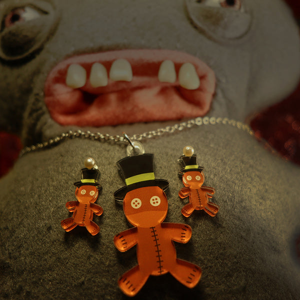 Top Hat Voodoo Doll - Pendant/Earrings