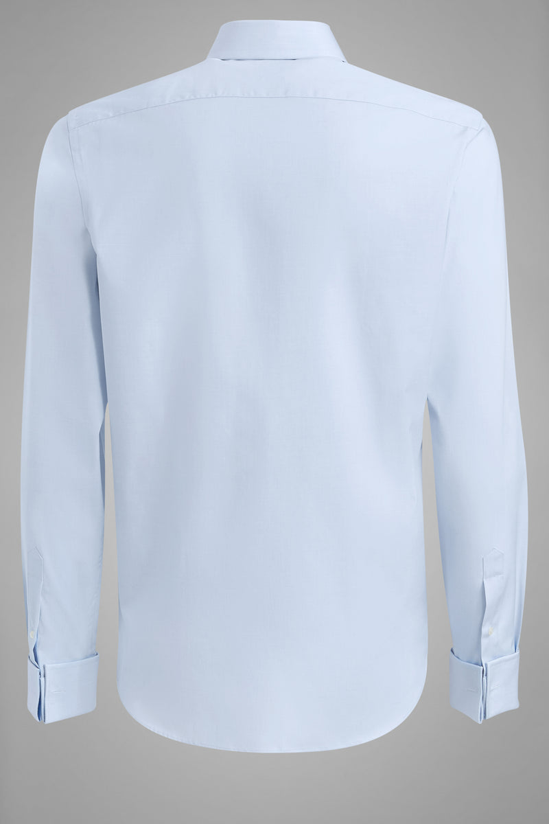 Slim Fit Light Blue Shirt With Windsor Collar