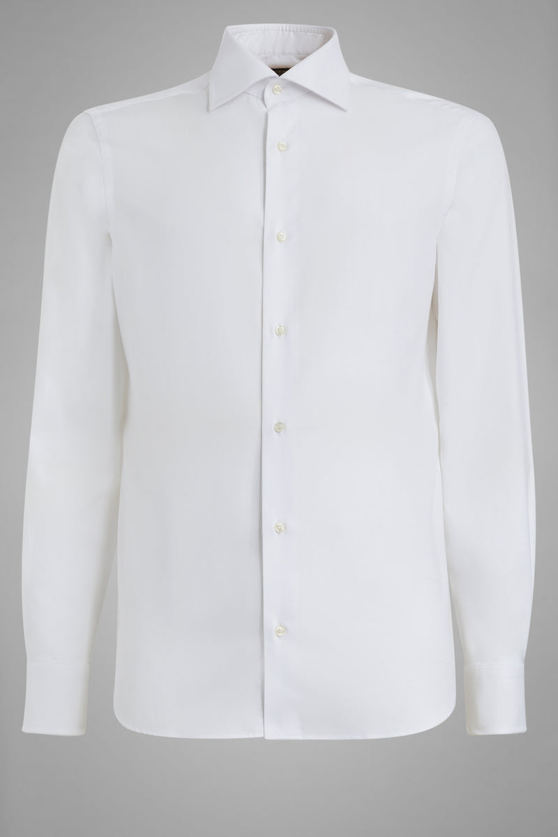 Slim Fit White Shirt With Windsor Collar