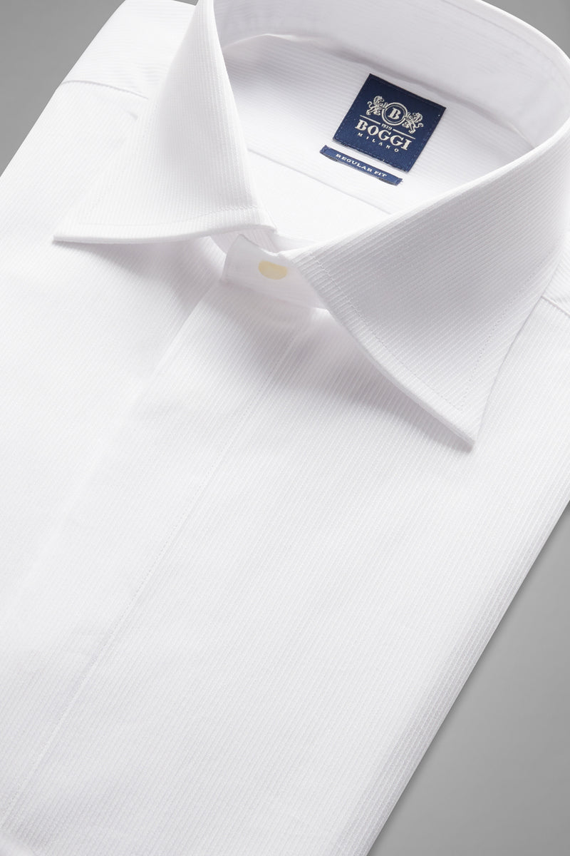 Regular Fit White Shirt With London Collar