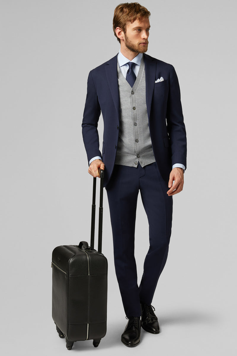 Blue Travel Wool Mantova Suit Jacket