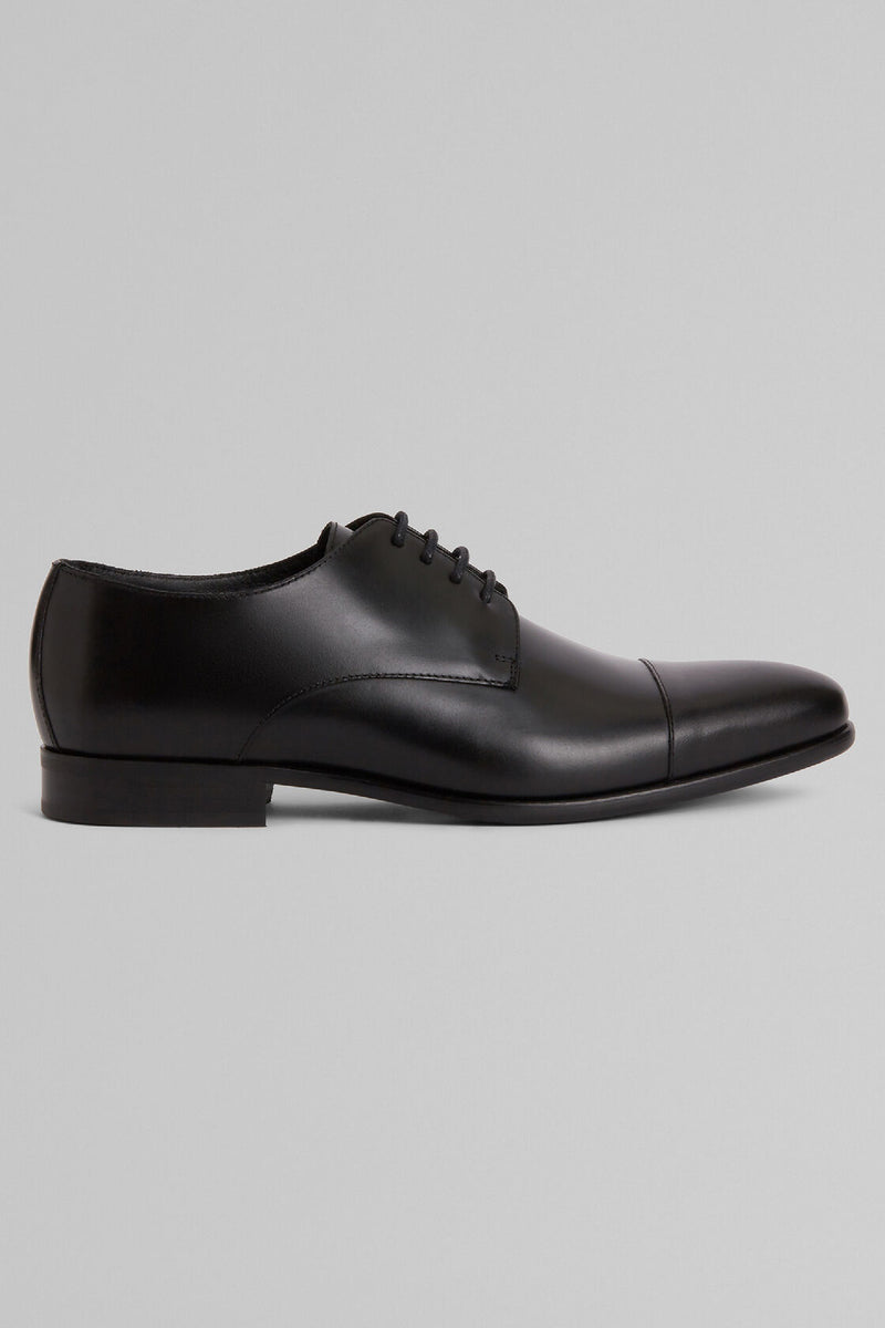 Smooth Leather Derby Shoes With Rubber Soles