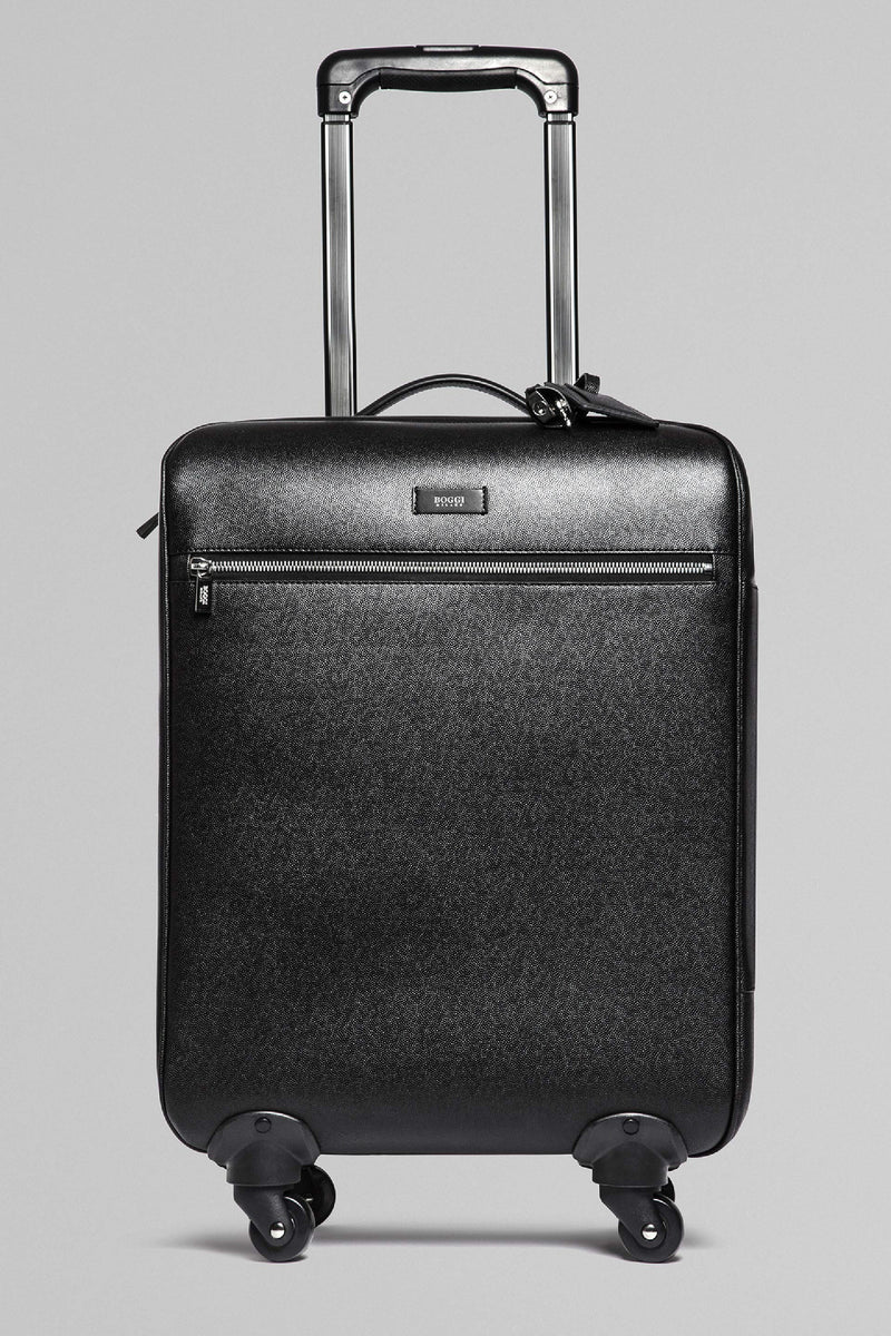 Caviar Print Leather Suitcase