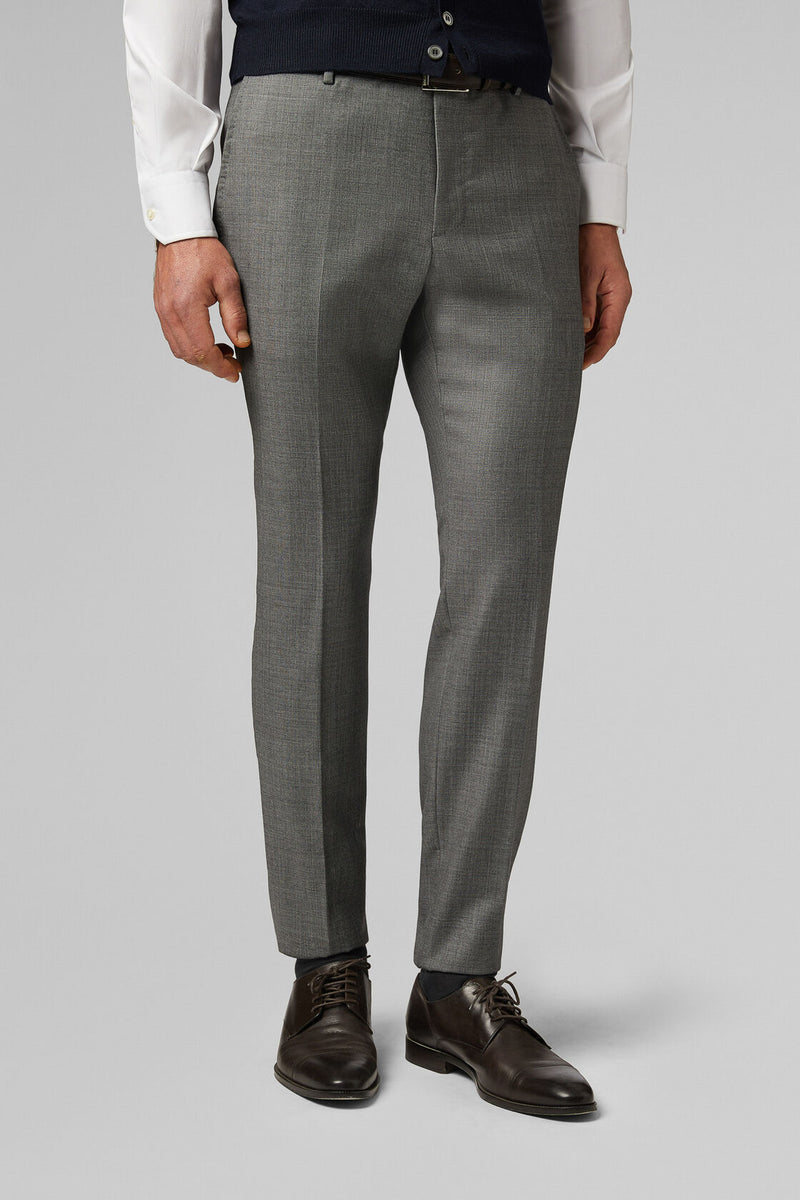 Regular Fit Grisaille Trousers In Super 110 Wool