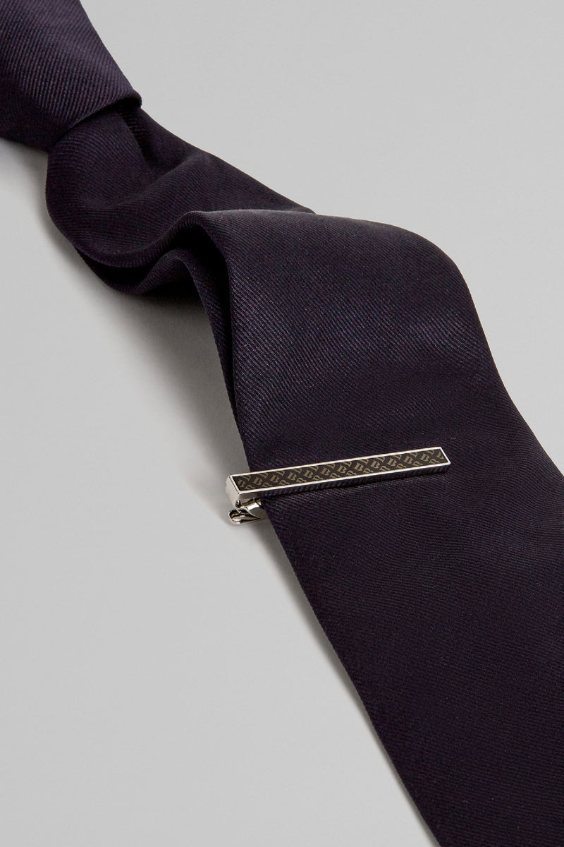 Narrow Tie Clip With B Logo