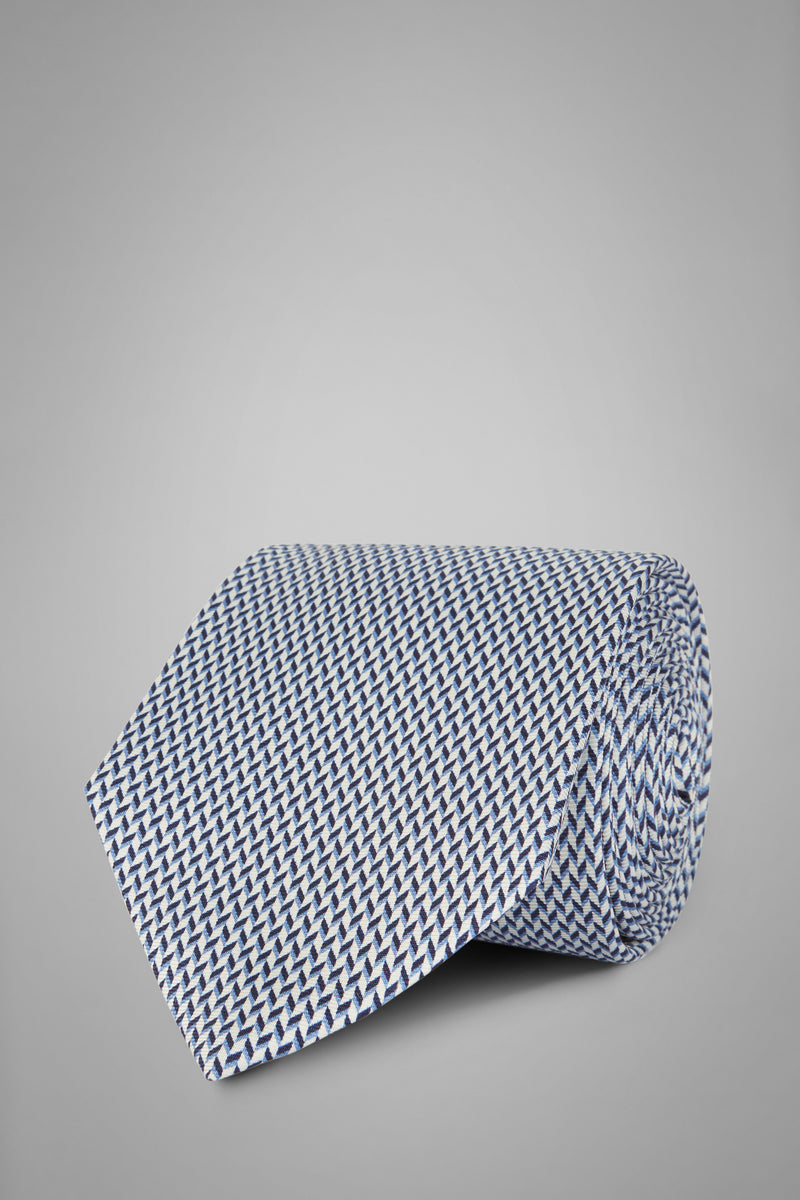 Micro Patterned Printed Silk Tie