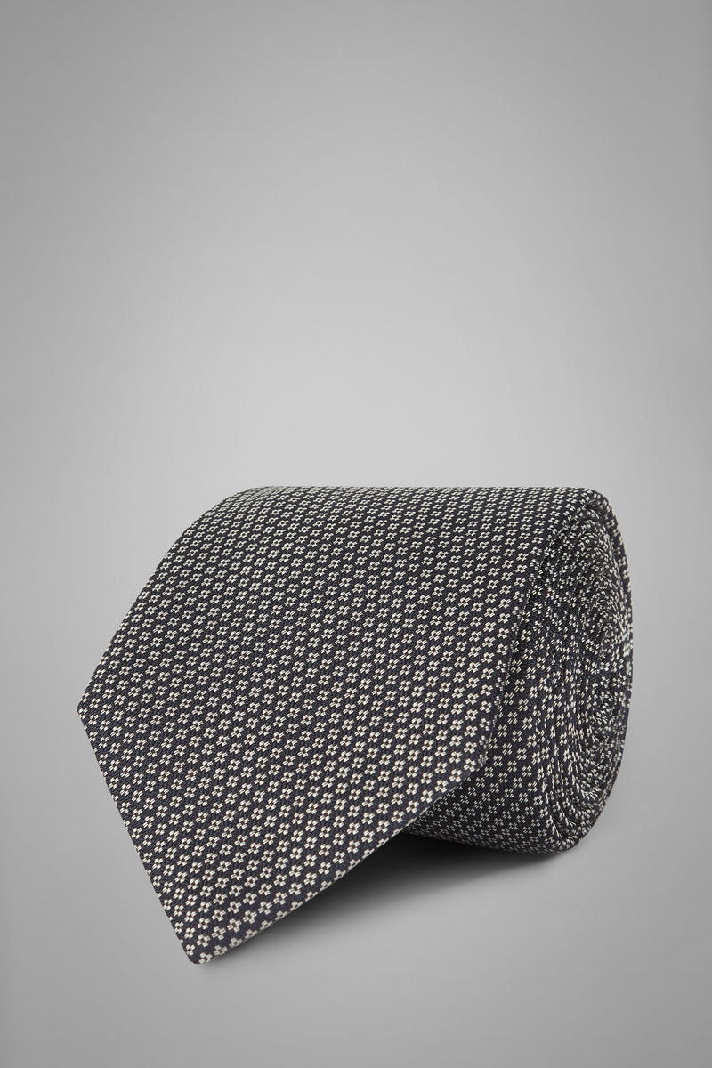 Micro Patterned Silk Jacquard Tie