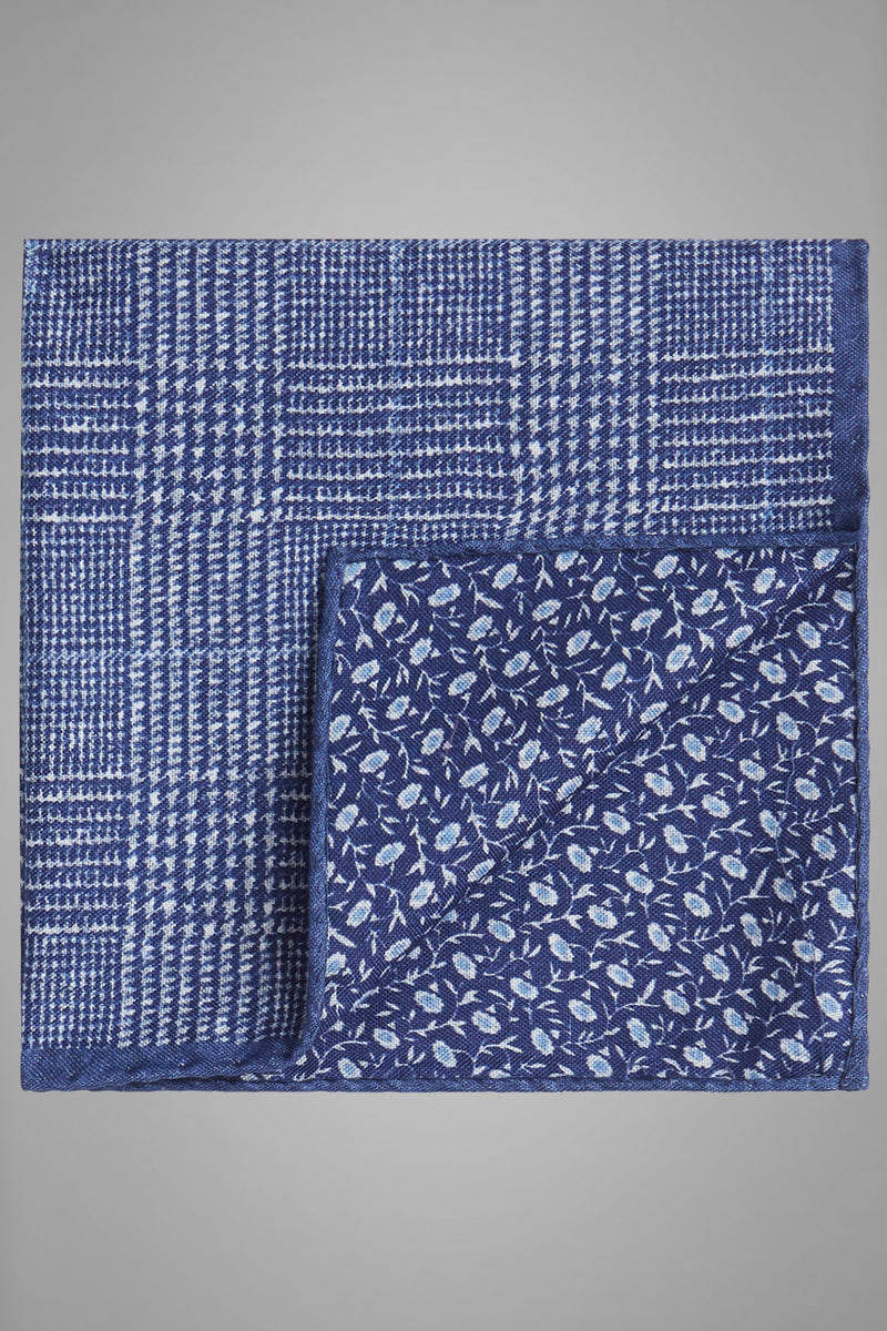 Double-Sided Printed Silk Pocket Square