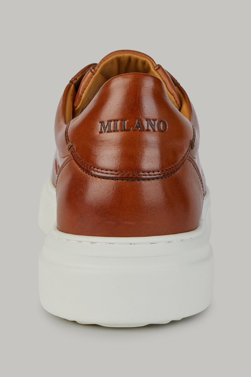 LEATHER SNEAKERS WITH LEATHER LOGO