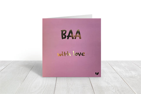 Baa, with love greeting card