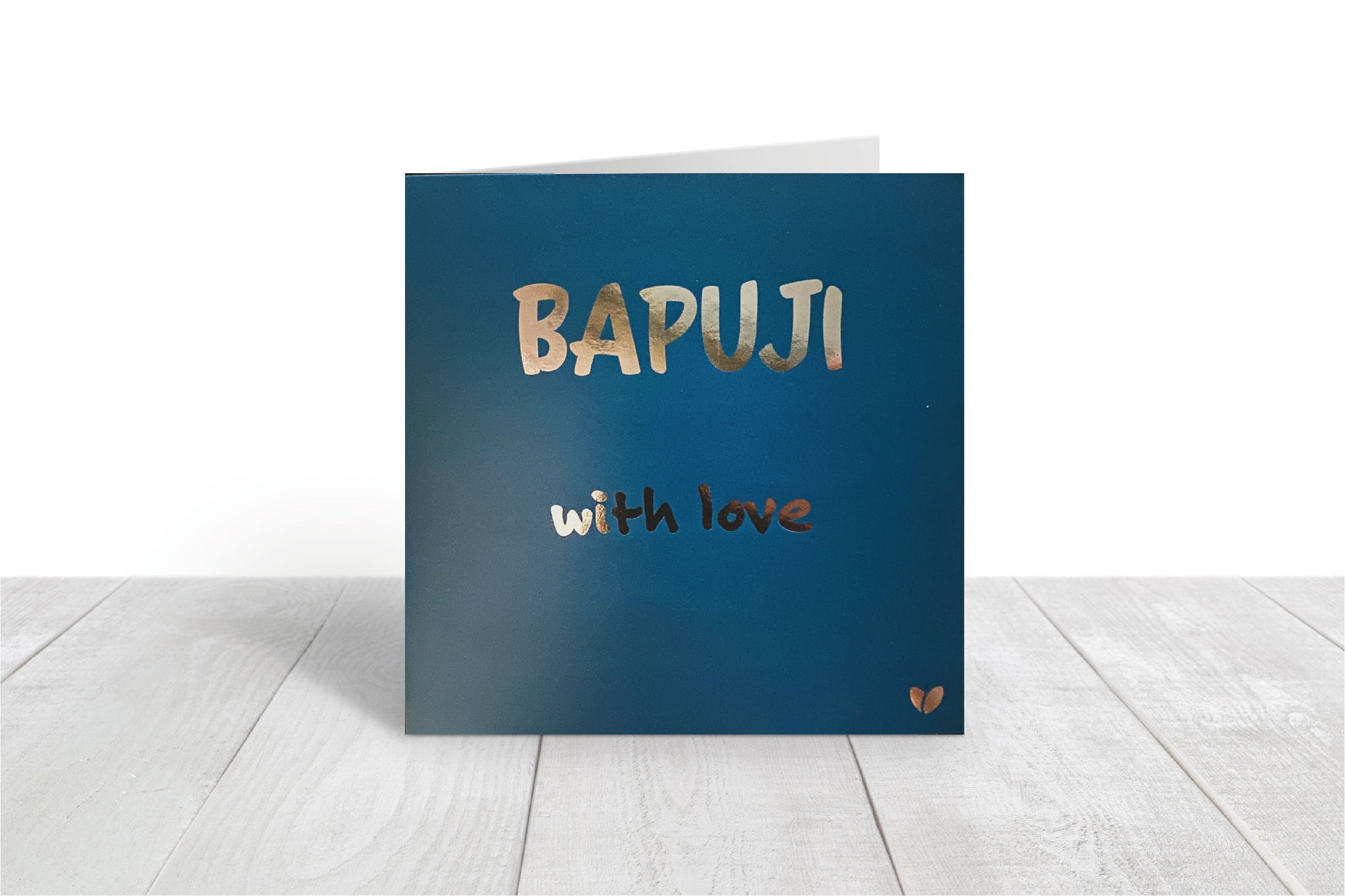 Bapuji, with love greeting card