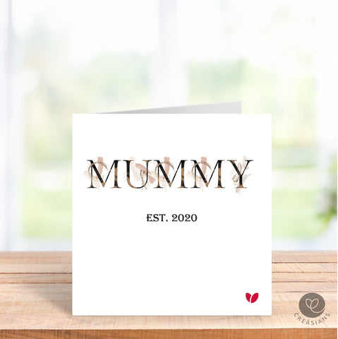 First Mothers Day as a Mummy, Amma, Baa, Dadi -  Mothers Day card