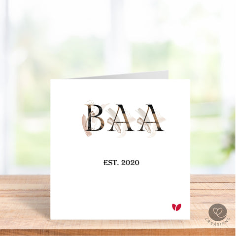 Baa Mothers Day card - Baa's 1st Mothers Day as a Baa Mummy, Amma, Dadi -  Mothers Day card