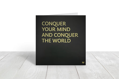 Conquer your mind greeting card