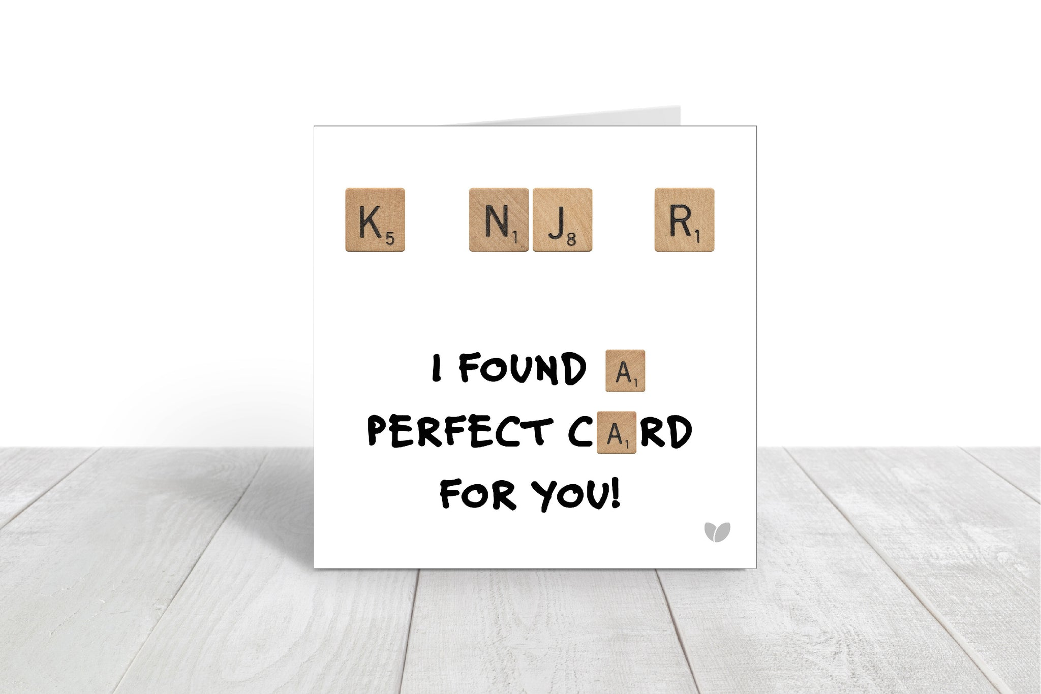 KNJR Perfect Card Scrabble greeting card
