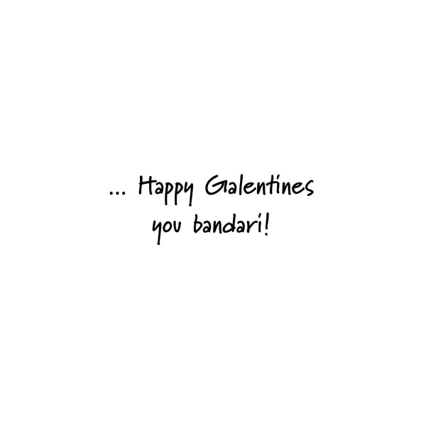 Perfect Galentines - bandari greeting card