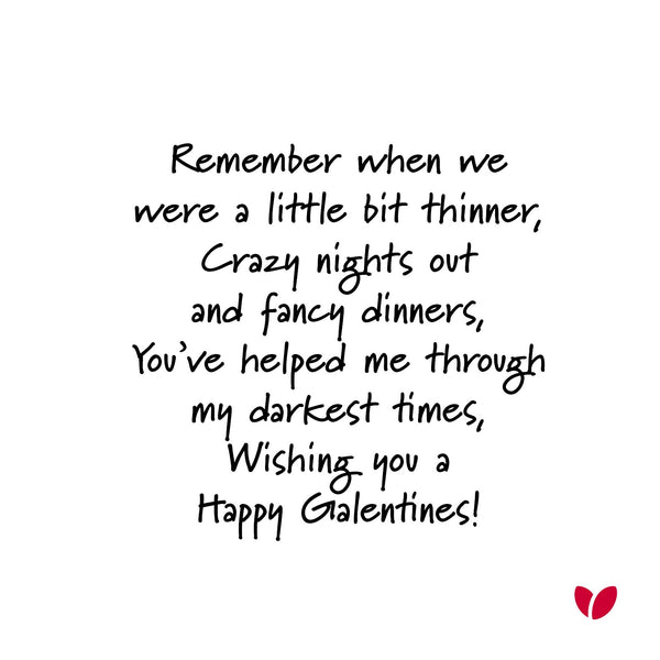 Remember when we were thinner Galentines greeting card